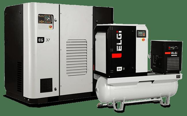 Electric Lubricated Screw Compressors